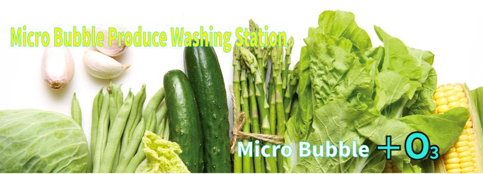 Micro Bubble Product Washing System